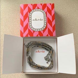 Stella & Dot Luna mixed metal wrap bracelet